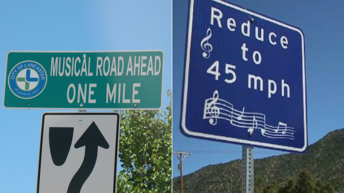 When you drive over this road music plays...so, it's basically the coolest road ever
