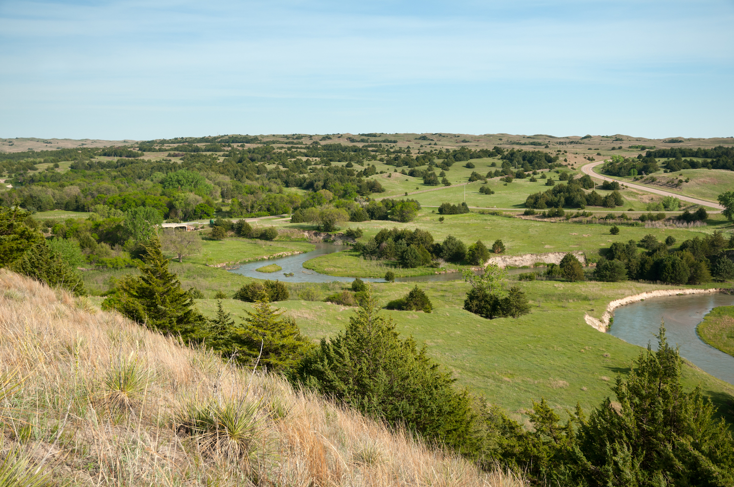 Sandhillls in Nebraska from scenic overlook
