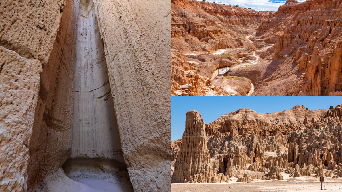 Cathedral Gorge State Park is one of the southwest's most dramatic valleys