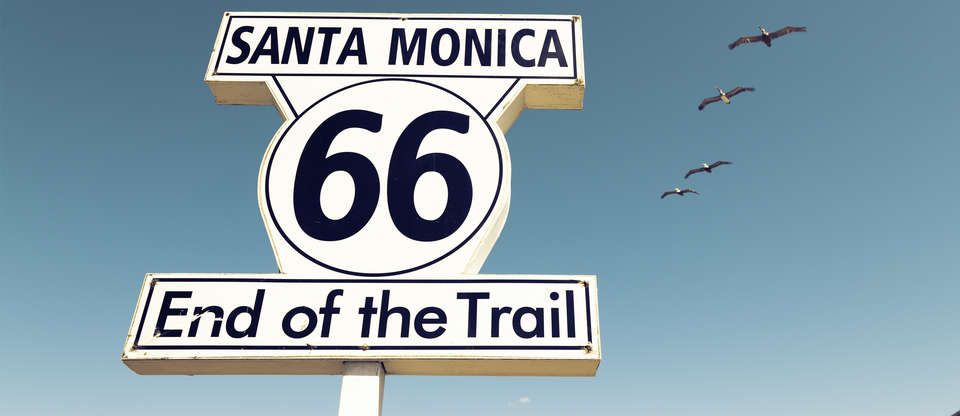 Experience deserts and ocean along the last leg of Route 66